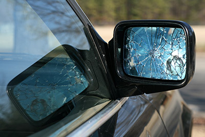 Shattered Side Mirror